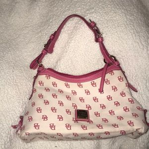 Dooney and Bourke pink and white bag